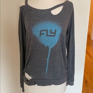 Chaser Long Sleeve T-Shirt with Flywheel Logo
